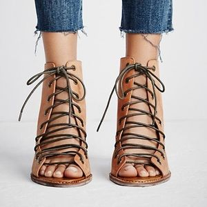 Jeffrey Campbell lace-up Peep Toe Booties